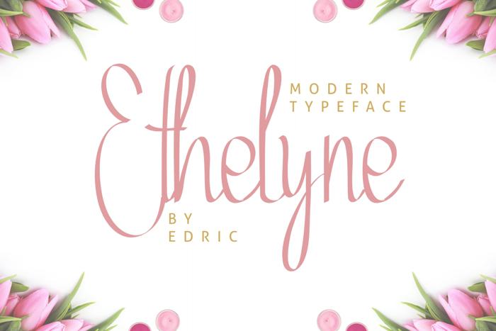 Ethelyne Font poster
