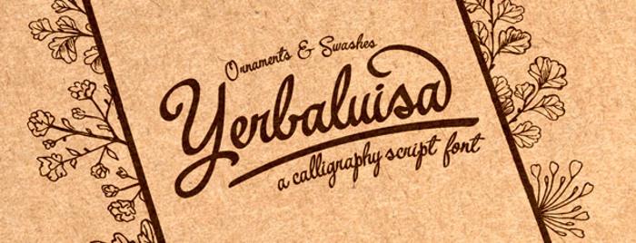 Yerbaluisa Font poster