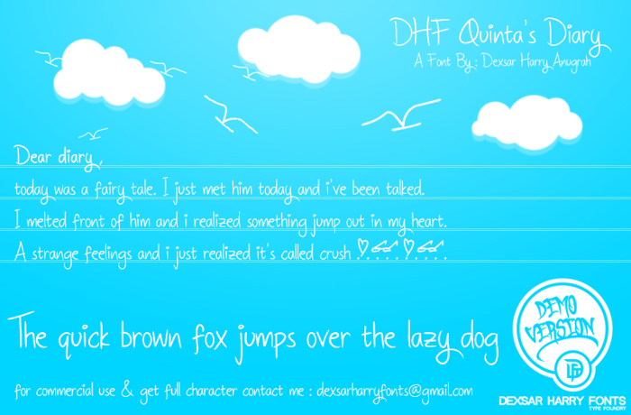 DHF Quinta's Diary Font poster