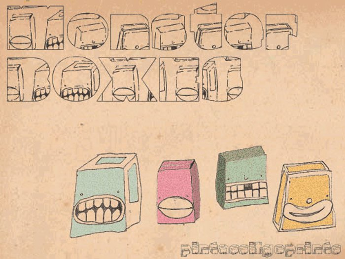 Monster boxes Font poster