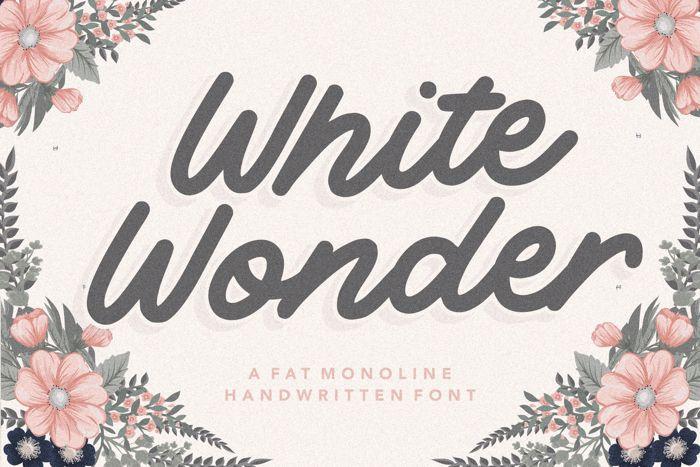 White Wonder Font poster