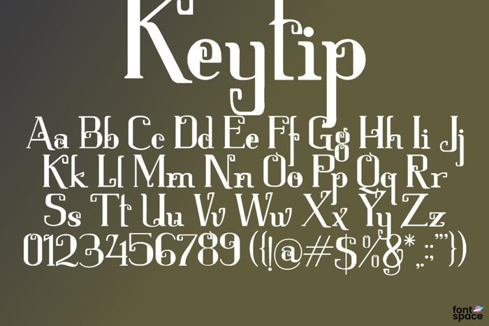 Keytip Font poster