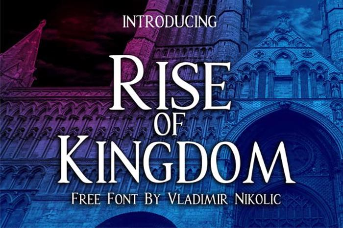 Rise of Kingdom Font poster