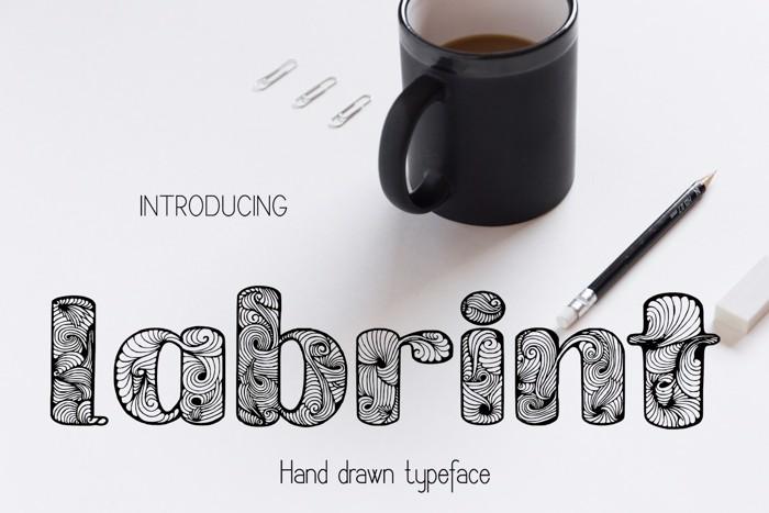 Labrint Font poster