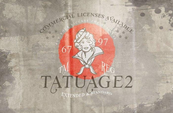 Vtks Tatuage2 Font poster