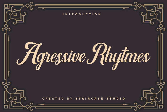 Agressive Rhytmes Font poster