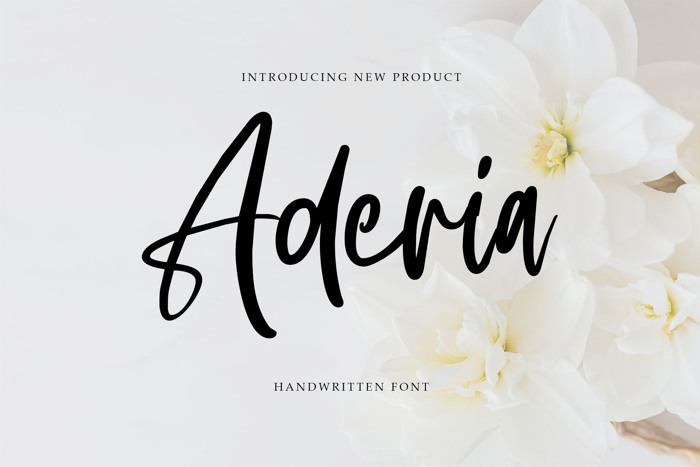 Aderia Font poster