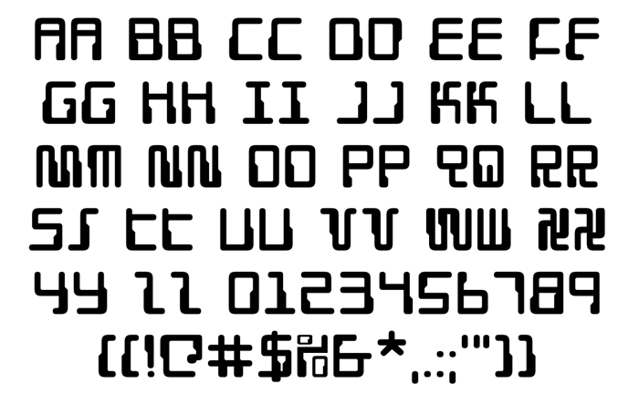 Droid Lover Font poster