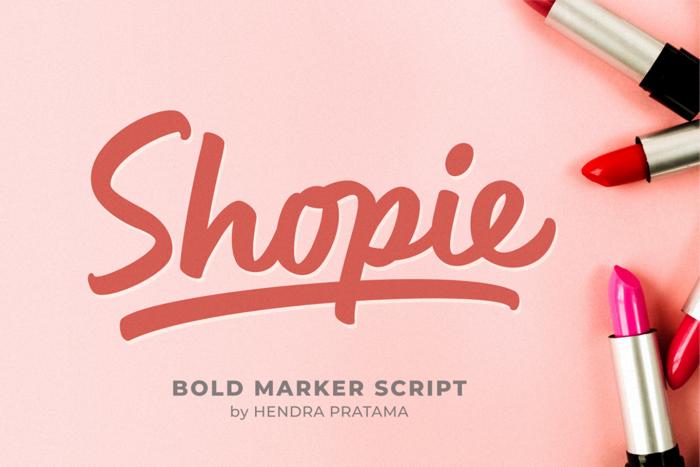 Shopie Font poster