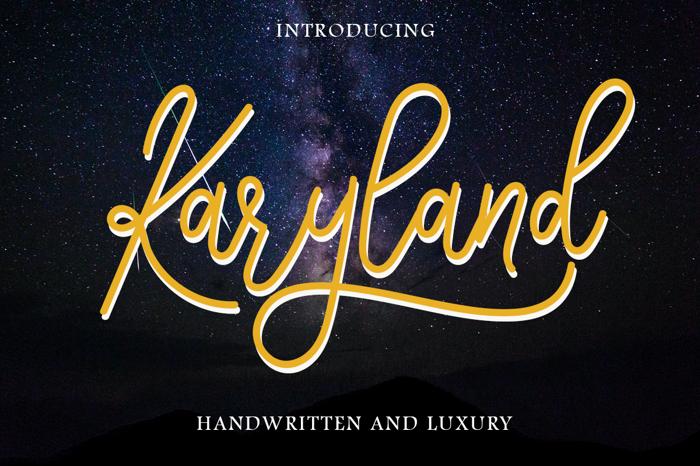 Karyland Font poster