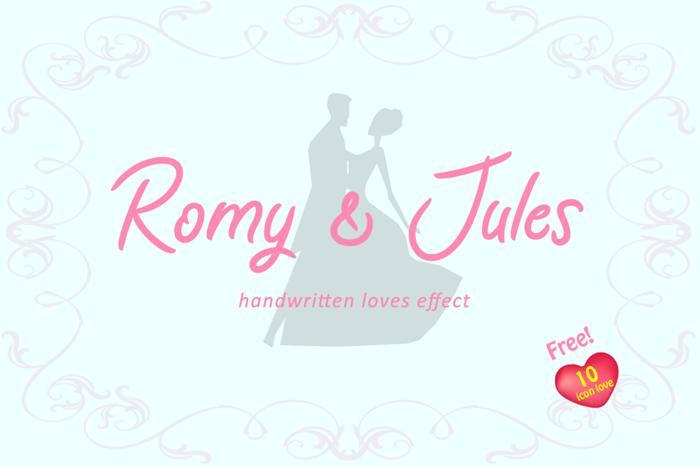 Romy & Jules Font poster
