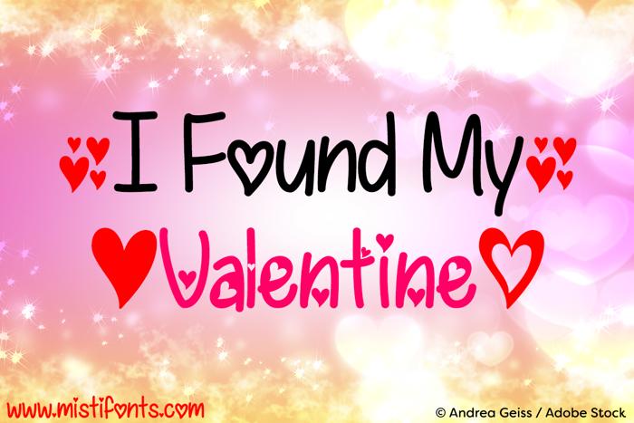 I Found My Valentine Font poster