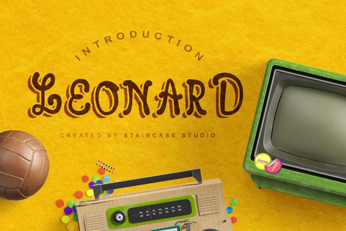 Leonard Font poster
