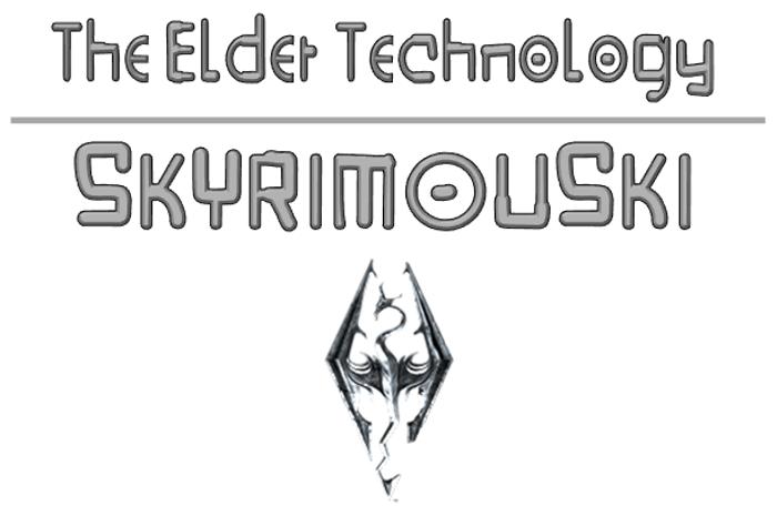 Skyrimouski Font poster
