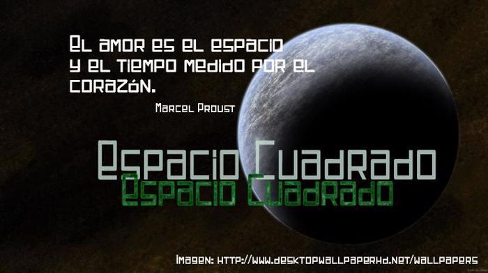 Espacio Cuadrado Font poster