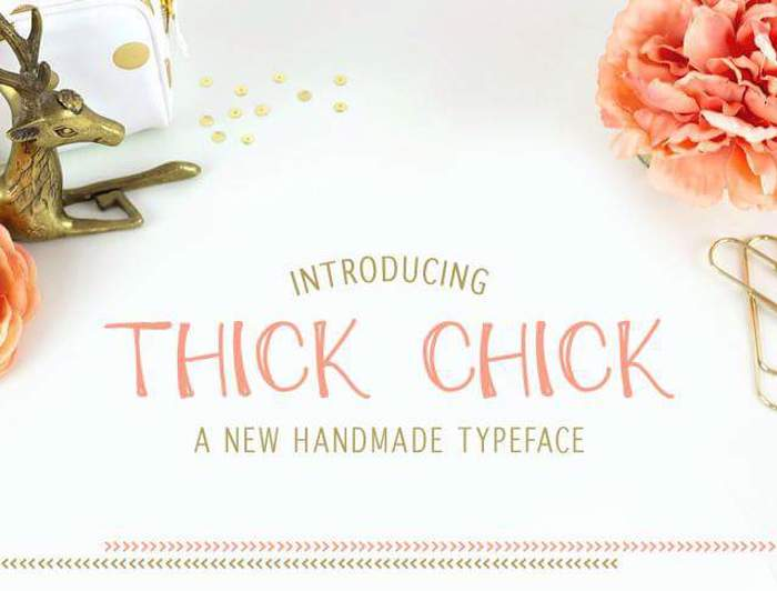 ThickChick Font poster