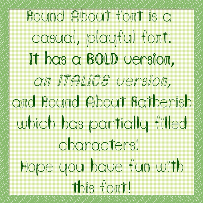 Round About Font poster