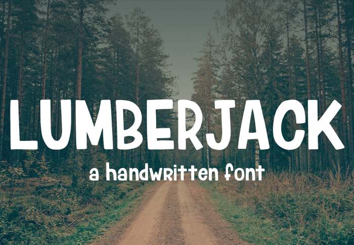 Lumberjack Font poster
