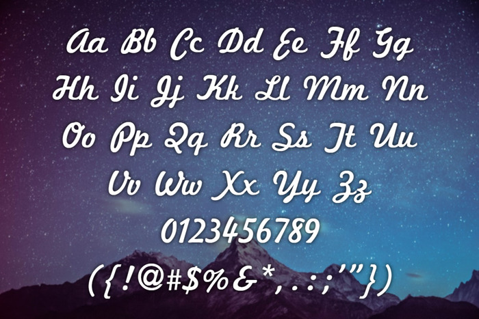 Marketing Script Font poster