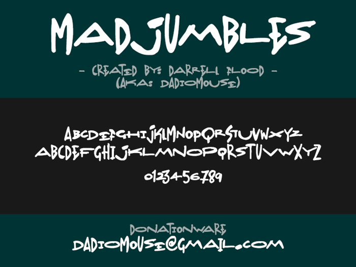 Madjumbles Font poster