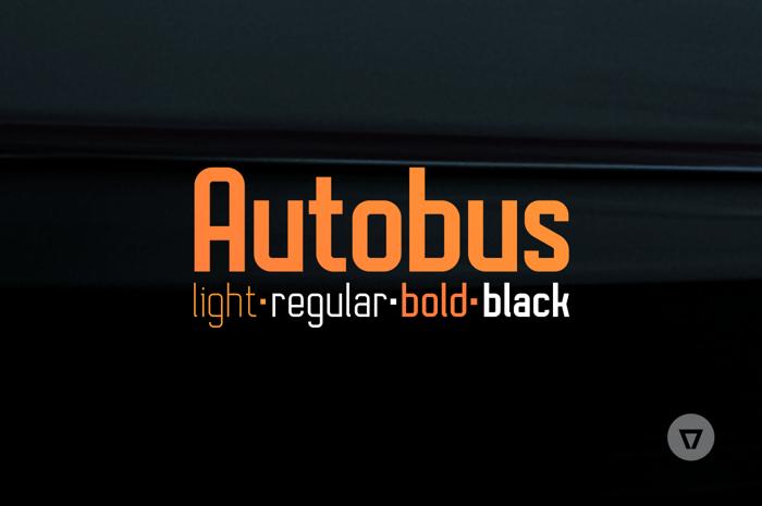 Autobus Bold Font poster
