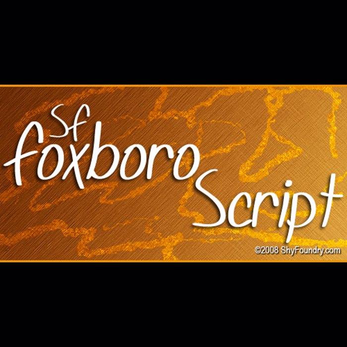 SF Foxboro Script Font poster