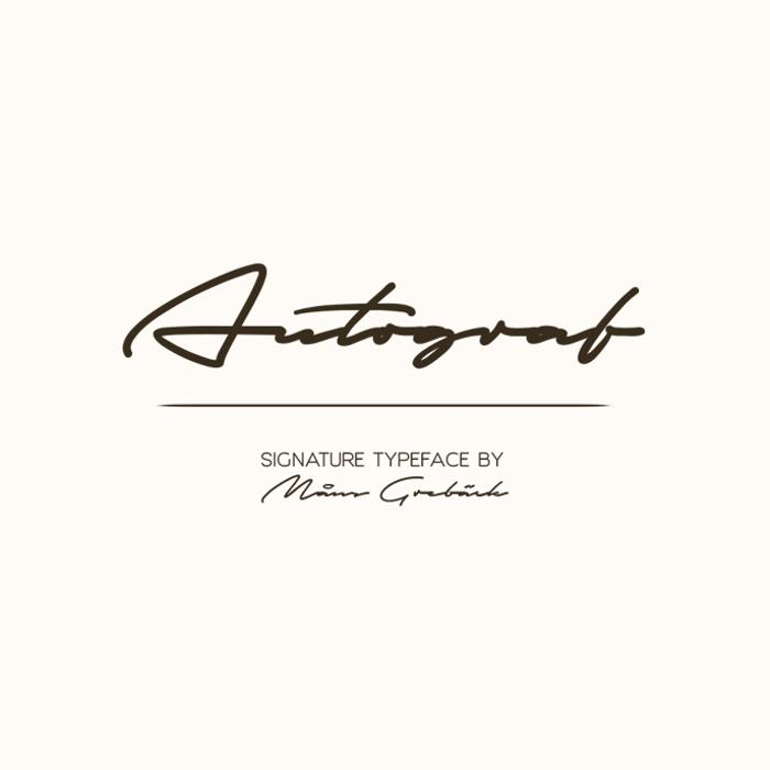 Autograf Font poster