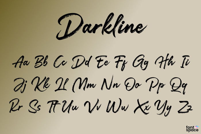 Darkline Brush Script Font poster