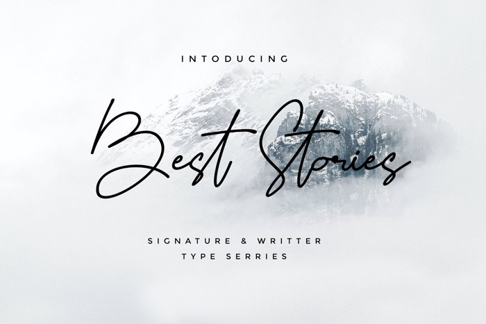 Best Stories Font poster