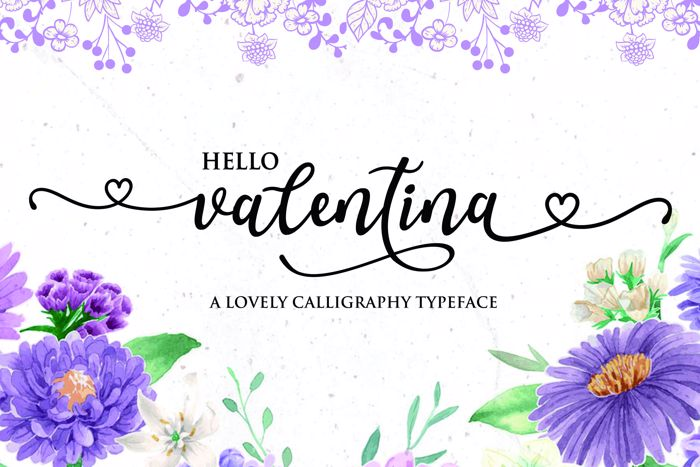 Valentina Font poster
