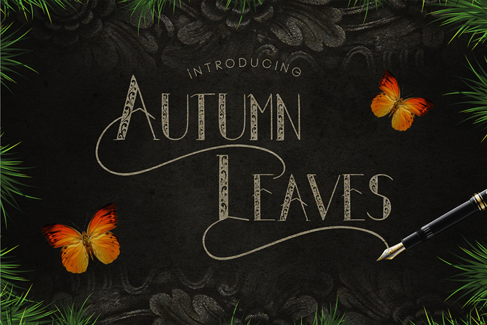 Autumn Leaves Font poster