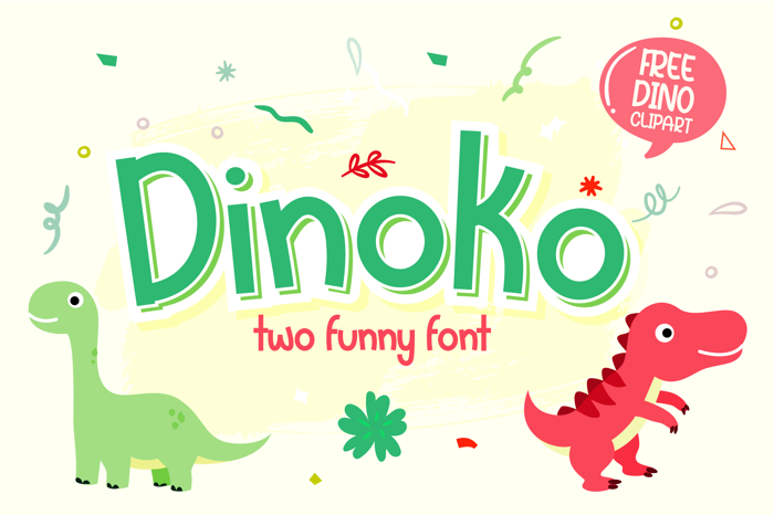 Dinoko Font poster