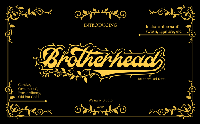 Brotherhead Font poster