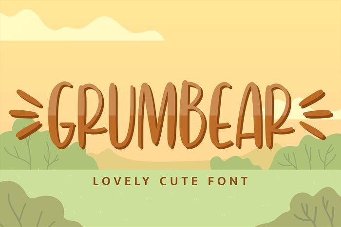 Grumbear Font poster