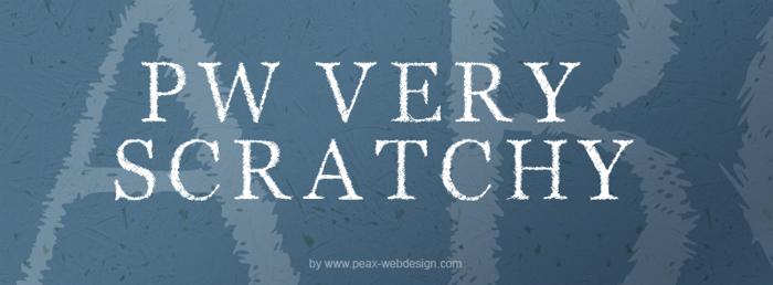 PWVeryScratchy Font poster