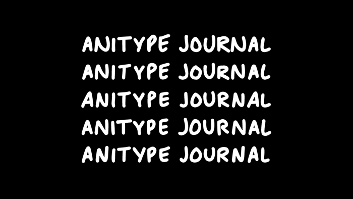 Anitype Journal1 Font poster