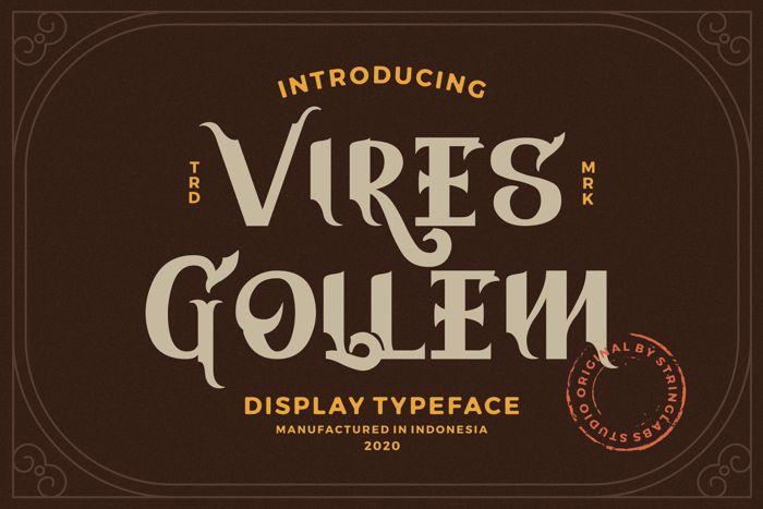 Vires Gollem Font poster