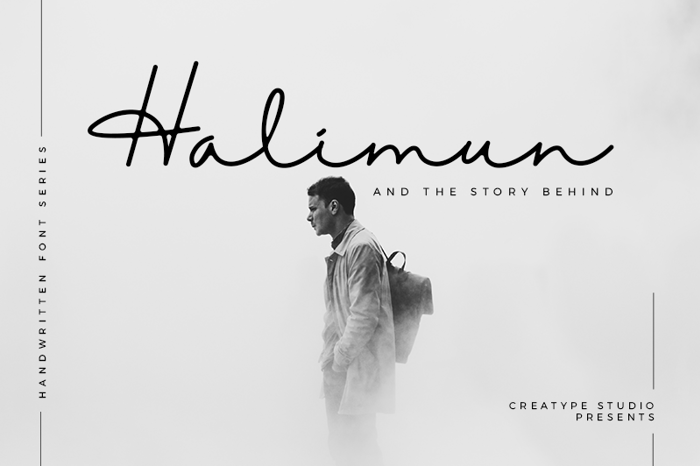 Halimun Font poster