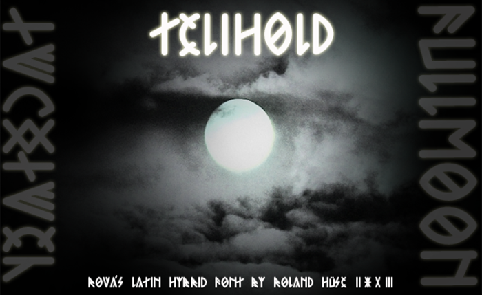 Telihold Font poster