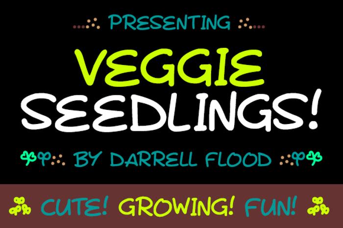 Veggie Seedlings Font poster