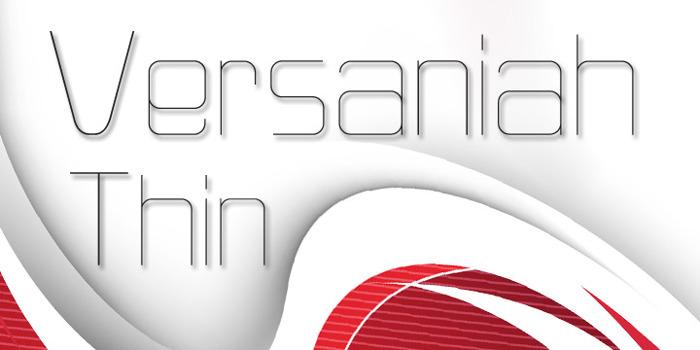 Versaniah_Thin Font poster