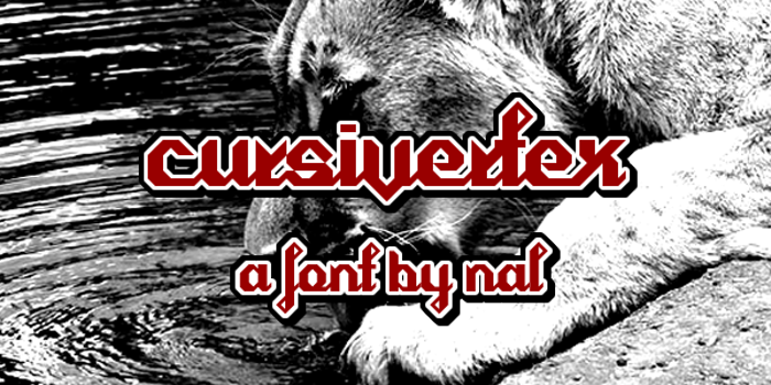 Cursivertex Font poster