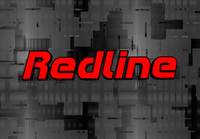 Redline Font poster