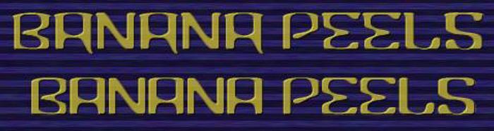 Banana Font poster