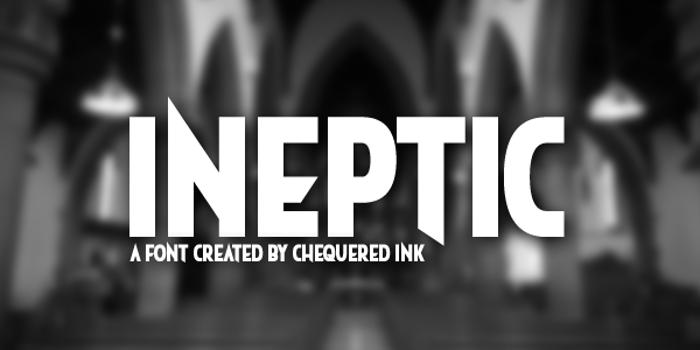 Ineptic Font poster