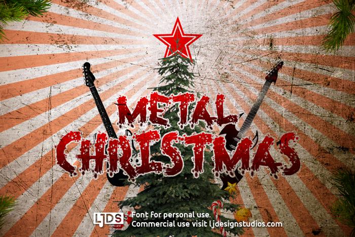 Metal Christmas Font poster