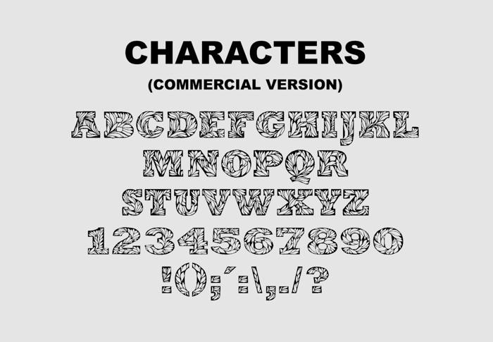 Leaffy Font poster