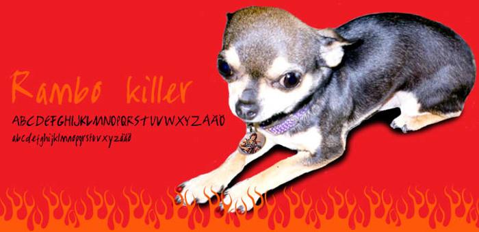 Rambo Killer  Font poster