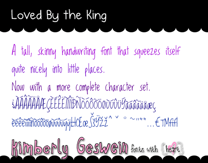 Loved by the King Font poster