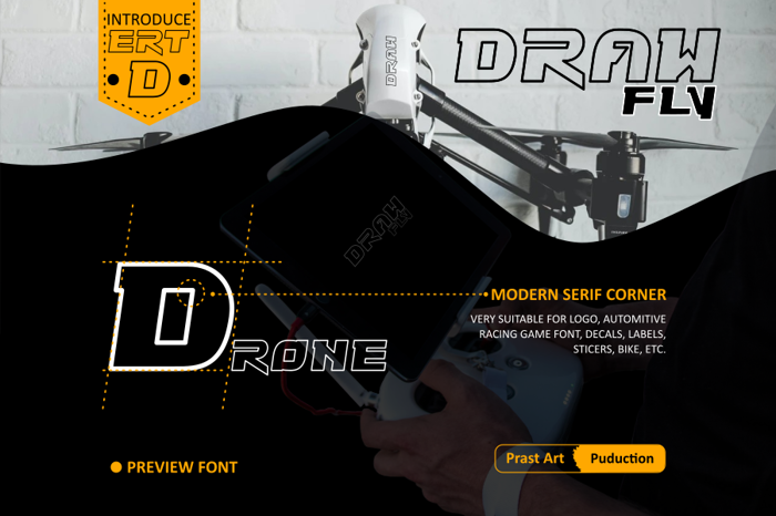 Drawfly Go Font poster